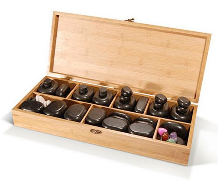 «Essential» Hot Stones DELUXE Set 64 Steine