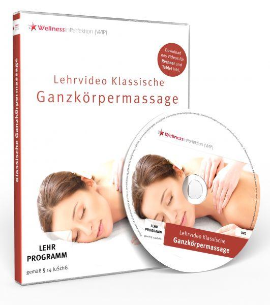 Lehrvideo DVD: «Klassische Ganzkörpermassage» 98 Min.