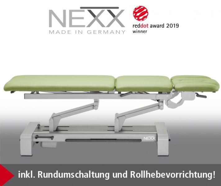 Behandlungsliege «NEXX 3» elektr. höhenverstellbar, 3-teilige verstellbare Liegefläche - CE -