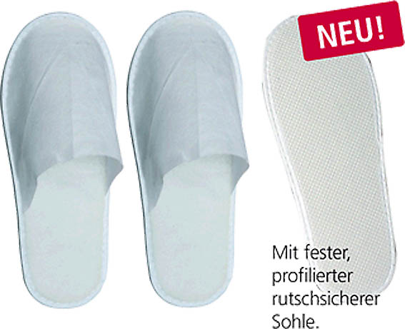 Einweg-Pantoffeln-Slipper, Gr. M/Damen, 10 Paar
