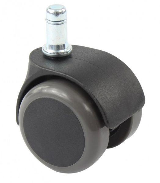 Hockerrollen ummantelt für harte Böden - GEBREMST - Ø 50cm, Kunststoff schwarz  - CE -