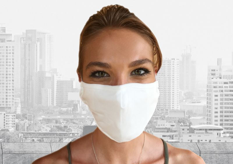 Schutzmasken - 100% Baumwolle, Weiss